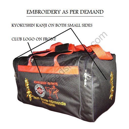 SPORTS BAGS KYOKUSHINKAI CUSTOM EMBROIDED