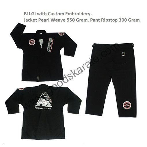 BJJ Gi with Custom Embroidery