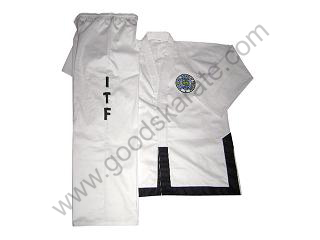 ITF White Dobok with Black Trim