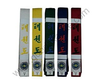ITF Color Belts Embroidery