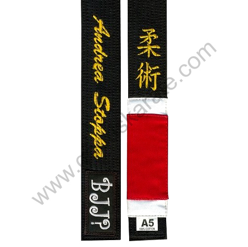 BJJ BLACK BELT WITH NAME