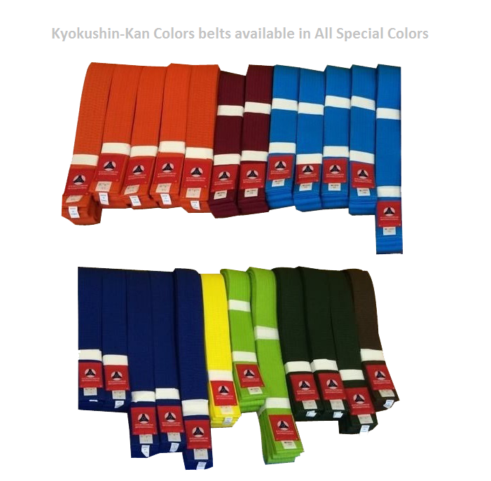 KYOKUSHIN-KAN COLOR BELTS
