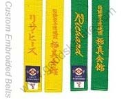 KYOKUSHINKAI COLOR BELTS WITH NAMES
