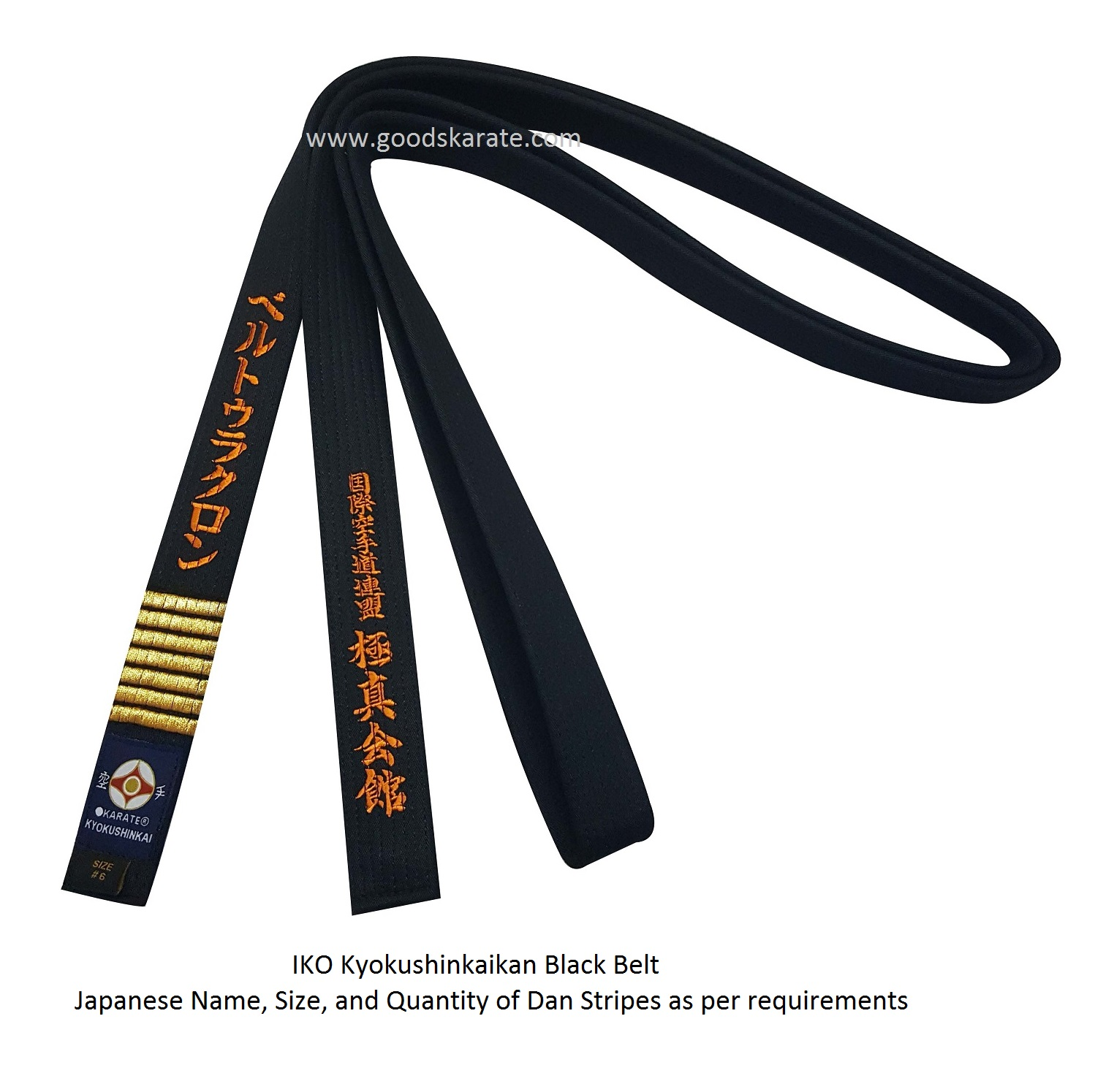 IKO Kyokushinkaikan Black Belt
