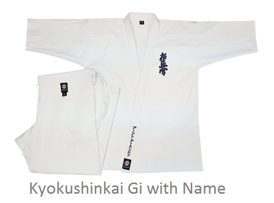 Kyokushinkai Gi with Name