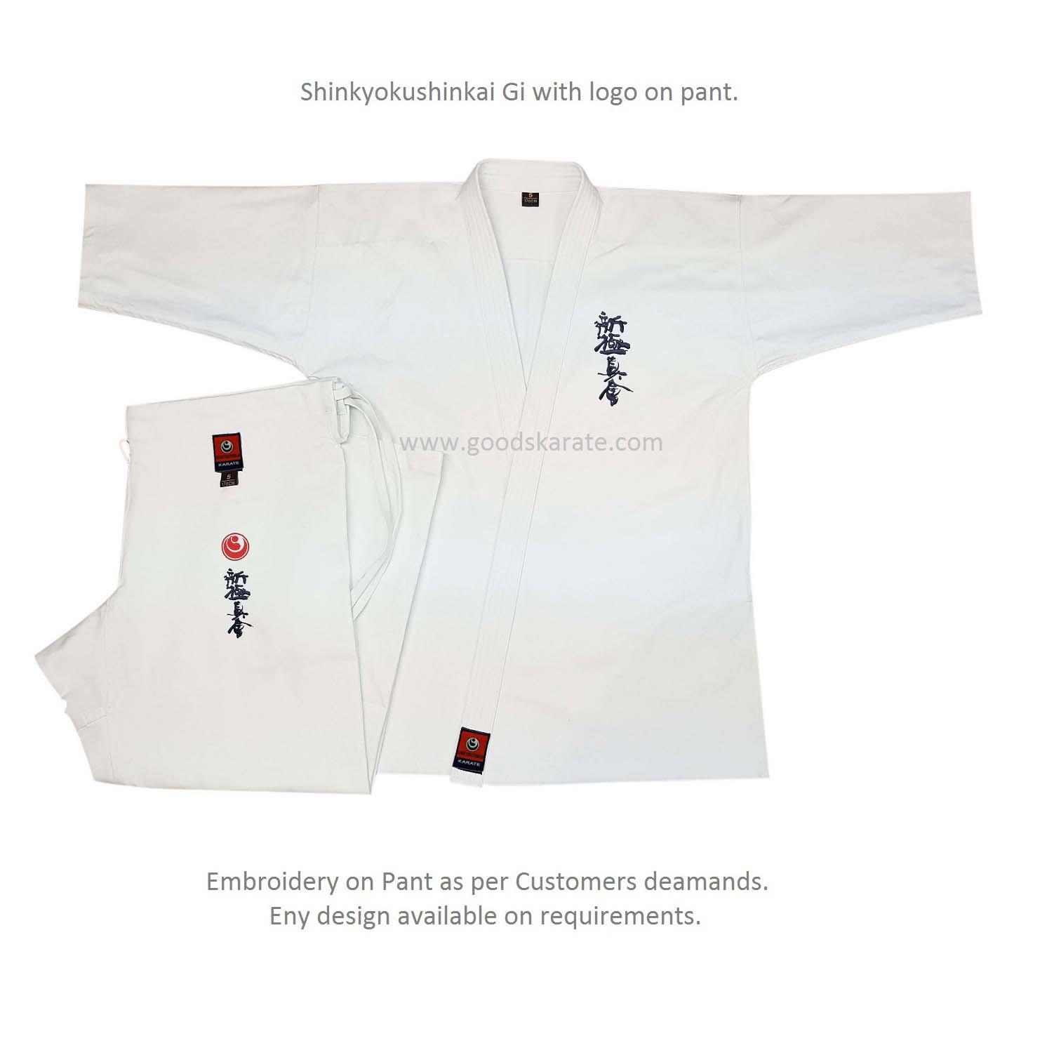 Shinkyokushin Gi with Pant logo